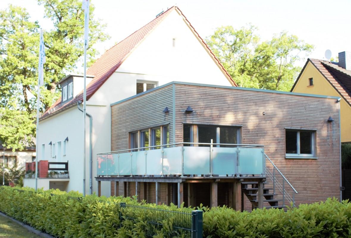 Ansicht - Anbau Bürogebäude in Wittenberge im Jahr 2014