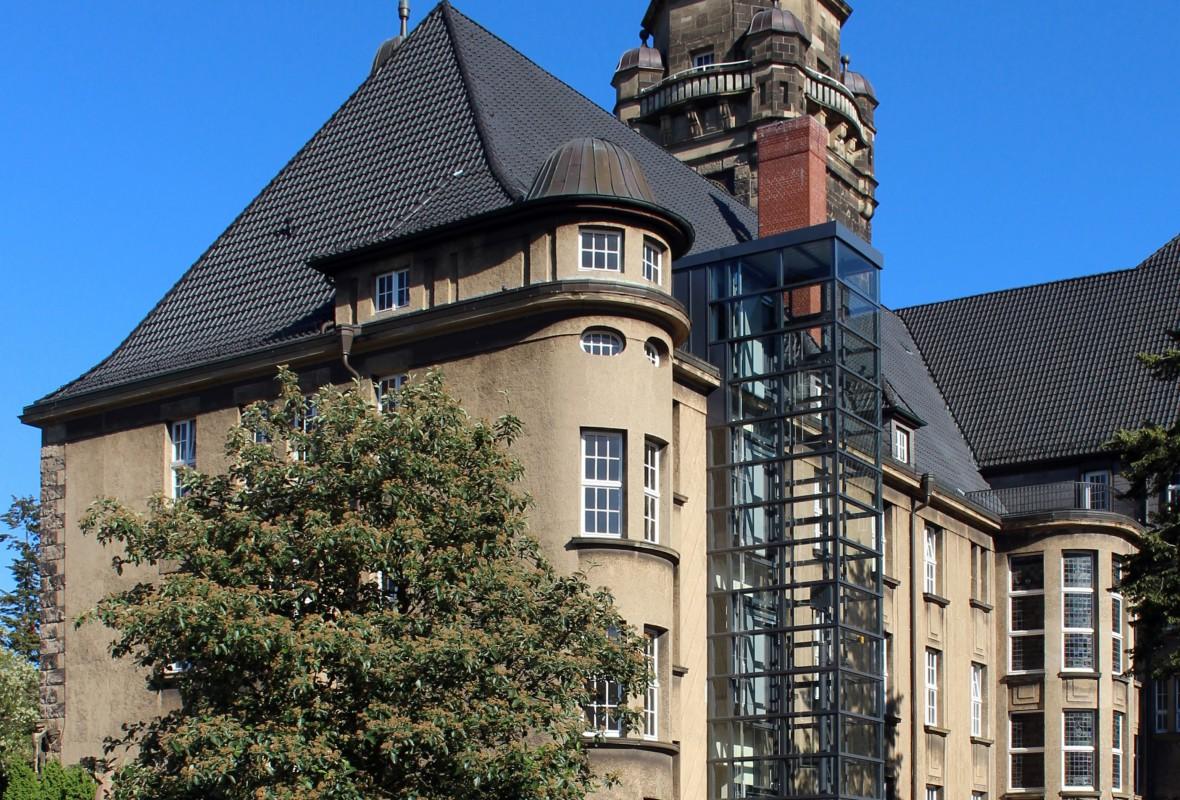 Ansicht - Neubau Aufzug am Rathaus in Wittenberge im Jahr 2015