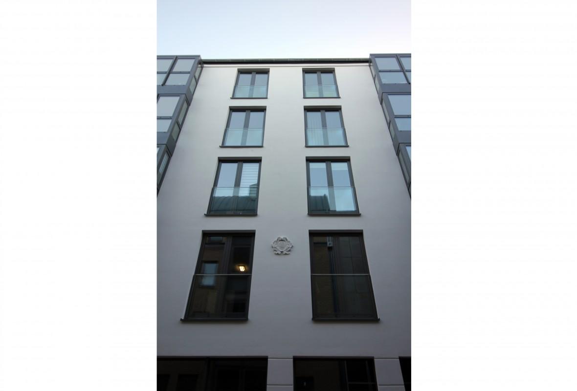 Ansicht - Neubau Wohn- & Geschäftshaus in Schwerin im Jahr 2017